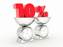 rendição 3D de um disconto de 10 por cento Foto de Stock Royalty Free
