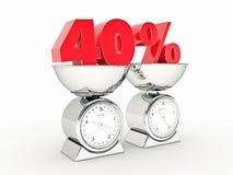 rendição 3D de um disconto de 40 por cento ilustração do vetor