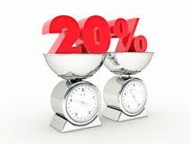 rendição 3D de um disconto de 20 por cento ilustração stock