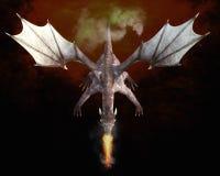 rendição 3D de um dragão Imagens de Stock