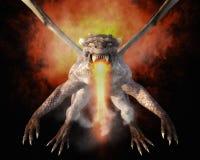rendição 3D de um dragão Fotografia de Stock Royalty Free