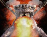rendição 3D de um dragão Foto de Stock Royalty Free