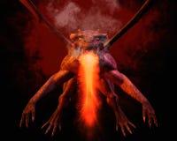 rendição 3D de um dragão ilustração stock