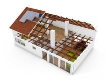 rendição 3d de um modelo da arquitetura Fotos de Stock Royalty Free
