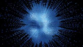 a rendição 3D de um ponto abstrato criativo vívido, borrado de uma forma complexa montou das partículas Imagens de Stock Royalty Free