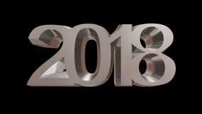 Rendição 3d do ano novo feliz 2018 Imagem de Stock
