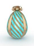 a rendição 3d do brilho da Páscoa e a turquesa egg com curva Fotografia de Stock Royalty Free