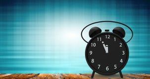 rendição 3d do despertador com minutos pequenos ao cloc do ` de doze o Foto de Stock Royalty Free