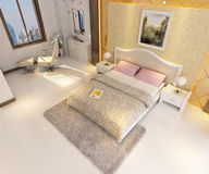 rendição 3D do interior home Imagem de Stock Royalty Free