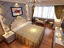 rendição 3D do interior home Fotos de Stock