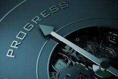 rendição 3D do progresso futuro Foto de Stock