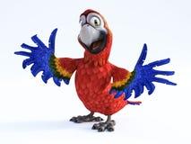 rendição 3D do sorriso do papagaio dos desenhos animados Imagem de Stock Royalty Free