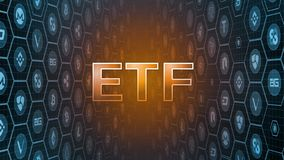 rendição 3D do texto de incandescência com bitcoin e fundo cripto das moedas da moeda Decisão dos atrasos do segundo que aprova o ilustração royalty free