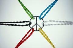 rendição 3D do unido para a paz Imagem de Stock Royalty Free