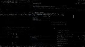 rendição 3D dos blocos abstratos de código situados no espaço virtual Ilustração do Vetor