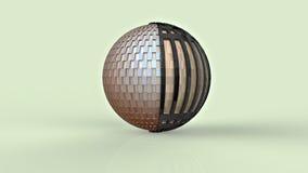 rendição 3d esfera Foto de Stock Royalty Free
