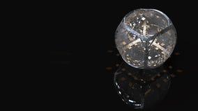 rendição 3d Esfera de Cystal Imagens de Stock