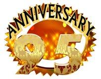 rendição 3d Imagem com a data da celebração do jubileu em um fundo branco Imagens de Stock Royalty Free