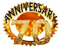 rendição 3d Imagem com a data da celebração do jubileu em um fundo branco Fotografia de Stock Royalty Free