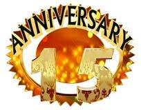 rendição 3d Imagem com a data da celebração do jubileu em um fundo branco Foto de Stock Royalty Free