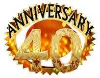 rendição 3d Imagem com a data da celebração do jubileu em um fundo branco Fotos de Stock