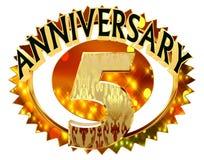 rendição 3d Imagem com a data da celebração do jubileu em um fundo branco ilustração do vetor
