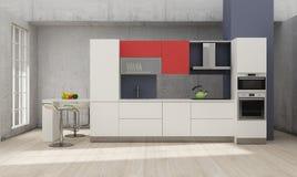 Rendição 3D interior da cozinha Fotos de Stock Royalty Free