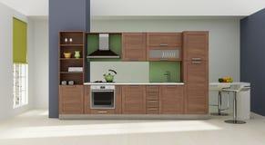 Rendição 3D interior da cozinha Foto de Stock
