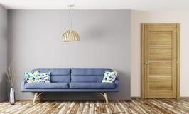 Rendição 3d interior da sala de visitas Imagem de Stock Royalty Free