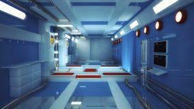 rendição 3d Interior vazio futurista Imagem de Stock Royalty Free