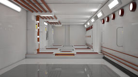 rendição 3d Interior vazio futurista Foto de Stock Royalty Free