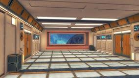 rendição 3d Interior vazio futurista Imagens de Stock Royalty Free