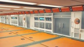 rendição 3d Interior vazio futurista Fotos de Stock Royalty Free