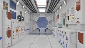 rendição 3d Interior vazio futurista Fotografia de Stock