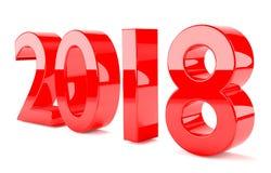 rendição 2018 3D no vermelho Imagem de Stock