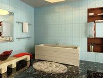 rendição 3d O interior do banheiro Fotografia de Stock Royalty Free