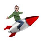 rendição 3D que sonha do voo no espaço Imagem de Stock