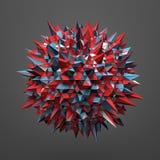 Rendição da esfera com estrutura caótica Fotos de Stock Royalty Free