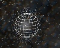 rendição da esfera 3d do efeito do microscópio Fotografia de Stock