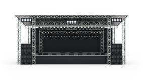 Rendição da fase 3d do concerto do pódio Imagem de Stock