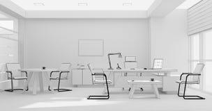 Rendição da grade 3D do mobiliário de escritório do VIP Foto de Stock Royalty Free