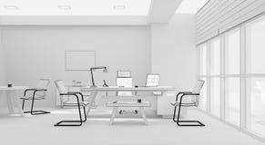 Rendição da grade 3D do mobiliário de escritório do VIP Foto de Stock