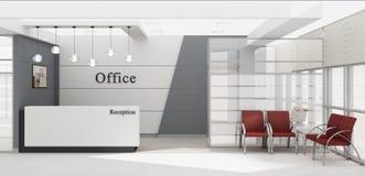Rendição da mesa de recepção 3D Imagem de Stock