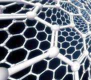 Rendição da molécula 3D de Nanotube Imagens de Stock