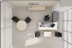 Rendição da opinião superior 3D do mobiliário de escritório do VIP Imagem de Stock