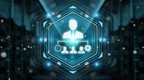 Rendição da relação digital 3D da carta da liderança do negócio Imagens de Stock Royalty Free