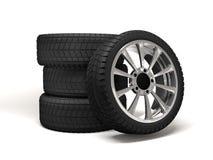 Rendição da roda de carro 3d Foto de Stock
