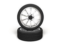 Rendição da roda de carro 3d Fotografia de Stock