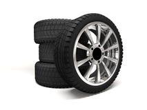 Rendição da roda de carro 3d Fotografia de Stock Royalty Free