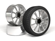 Rendição da roda de carro 3d Foto de Stock Royalty Free